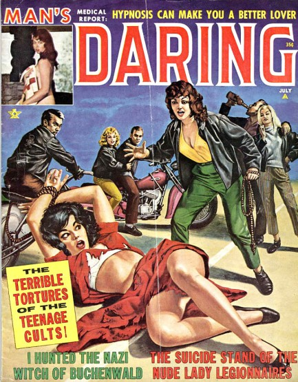Below are fourteen pulp, adventure, and detective magazine covers  illustrating that point, with art by Bud Parke, George Gross, Barye  Phillips and others, ...