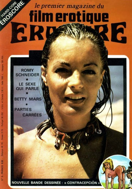 ... used for the cover of the French erotic film magazine Eroscore, below.
